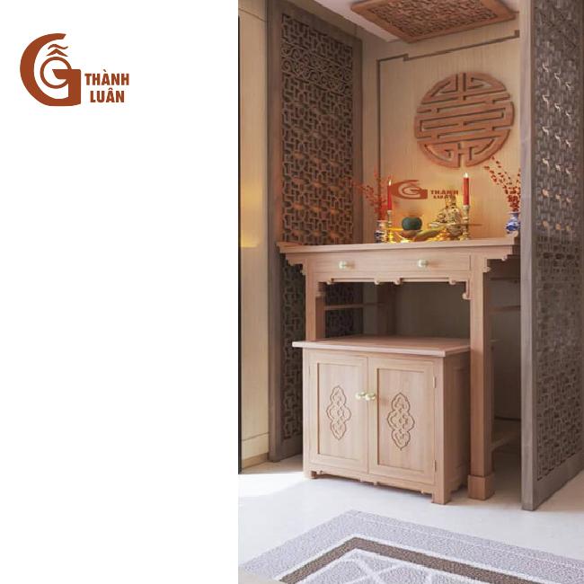 Bàn thờ đứng gỗ đứng kiểu mới TĐ 2 mang nét đẹp của phong cách thiết kế Á Đông