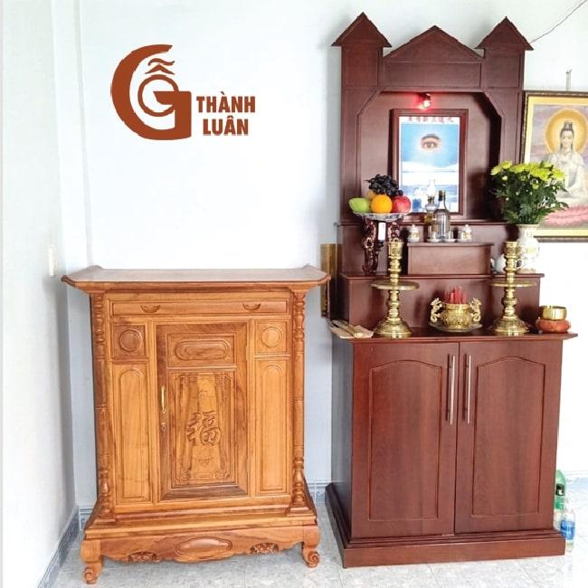 Bàn thờ đứng gỗ dổi TĐ 19