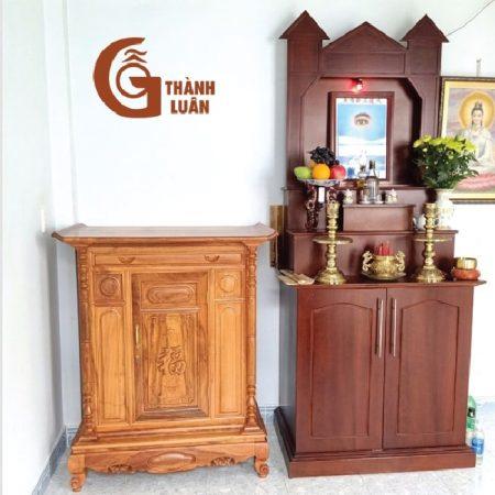 bàn thờ đứng gỗ dổi TTĐ 19